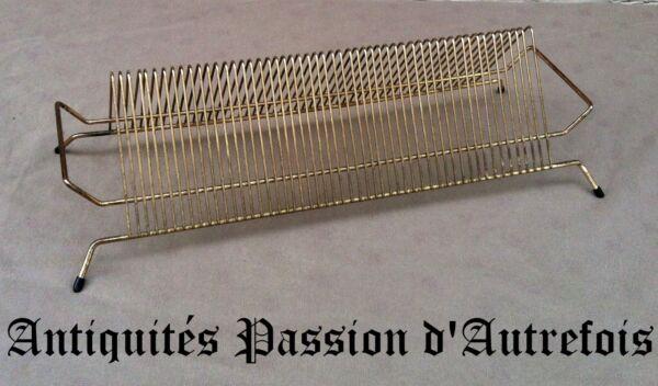 B2017106 - Porte Disques 45 Tours En Métal 1950-60 Forfaits à La Mode Et Attrayants