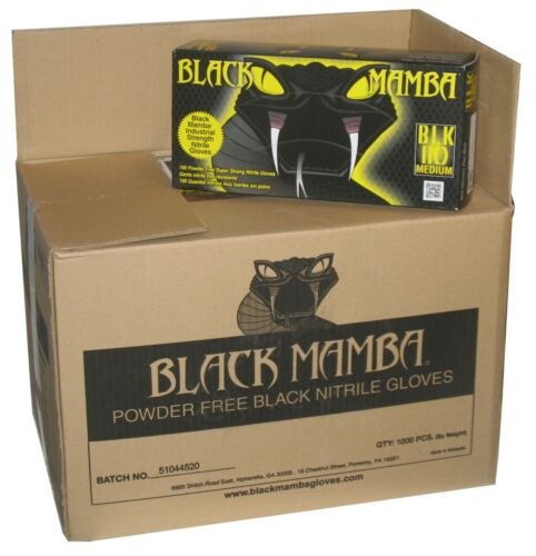 Black Mamba Glove Nitrile Medium BLK110 Box of 100 HVAC Auto Mechanic Disposable