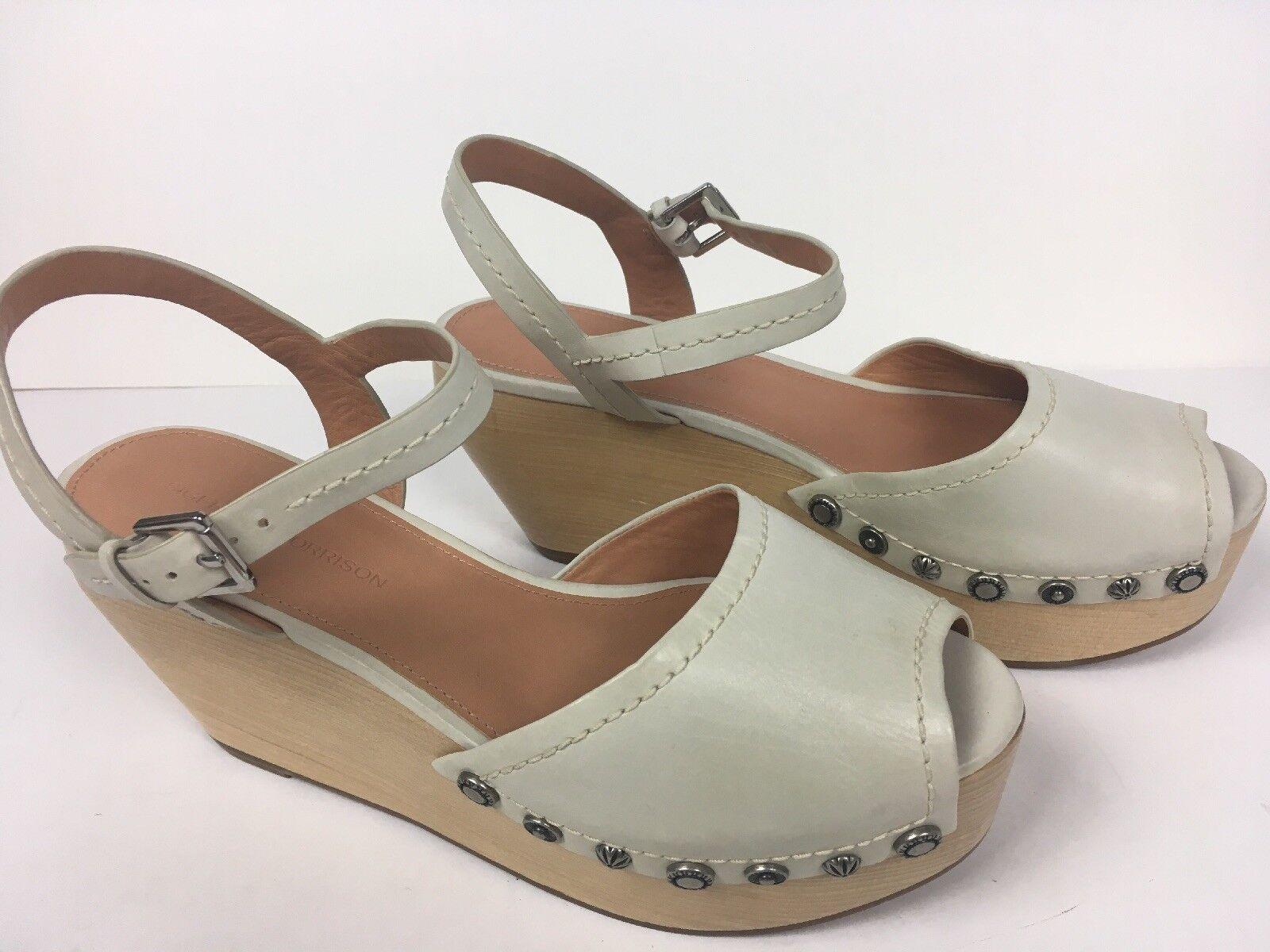 punto vendita Sigerson Morrison Morrison Morrison donna Clogs Wedge Studs Platform Ankle Buckles scarpe Dimensione 9 B  comodamente