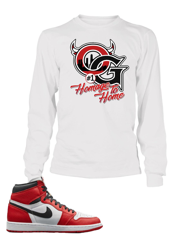 OG Tee Shirt To match Retro Air Jordan 1 shoes Homage to Home shoes Men Graphic