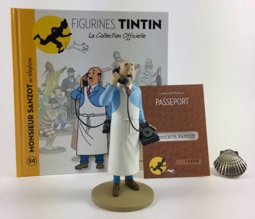 Collection officielle figurine Tintin Moulinsart 54 Monsieur Sanzot au téléphone