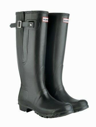 STIVALE Hunter Originale Stivali Di Gomma REGOLABILI Wide VITELLO Wellingtons UK3-UK12