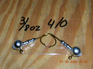 25 1//8oz Double Collar Jigs  #1 1//0  2//0  or  3//0 Mustad Bronze hooks You Choose