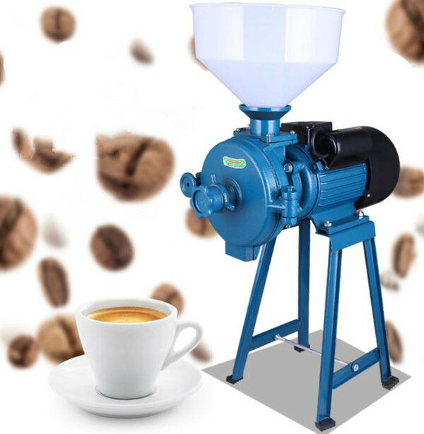 CE 220V Electric Feed Mill Wet Dry Cereals Grinder Corn Grain Rice Coffee Wheat