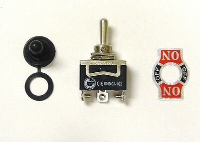 20 amp Toggle Switches with Boots 4 BBT 3 Position Mom.On//Off//Mom.On 12 volt