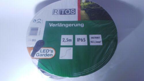 RITOS LED´s Garden  Verlängerung 2,5 m Kabel Stromkabel