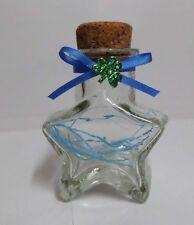 """Origami Lucky Star 2.75"""" Love Star Shape Glass Bottle"""