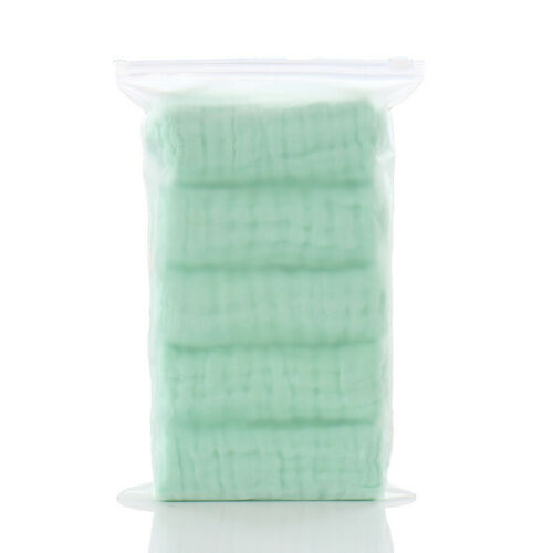 5Pcs 6-layer Gauze Muslin Cotton Washcloths Towels For Baby 30x30cm