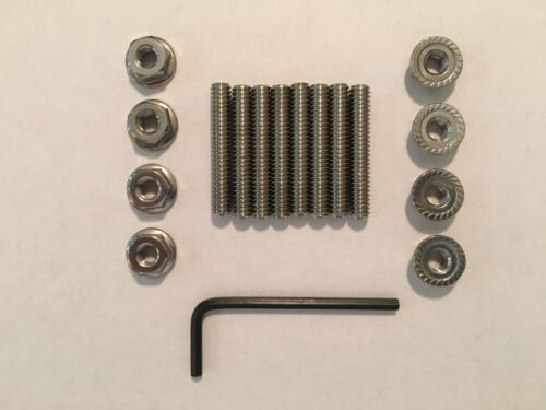 """Small Block Chevy Stainless Steel Valve Cover Stud Kit and Wrench 1.5/"""" Long"""
