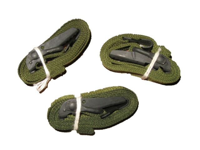 Lot of 3 US Military Molle Leg Lashing Pack Straps Coyote Brown Alice Army USGI