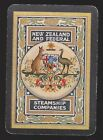 1 Single VINTAGE Playing/Swap Card OLD WIDE NZ & FEDERAL EMU Steam Shipping GRN