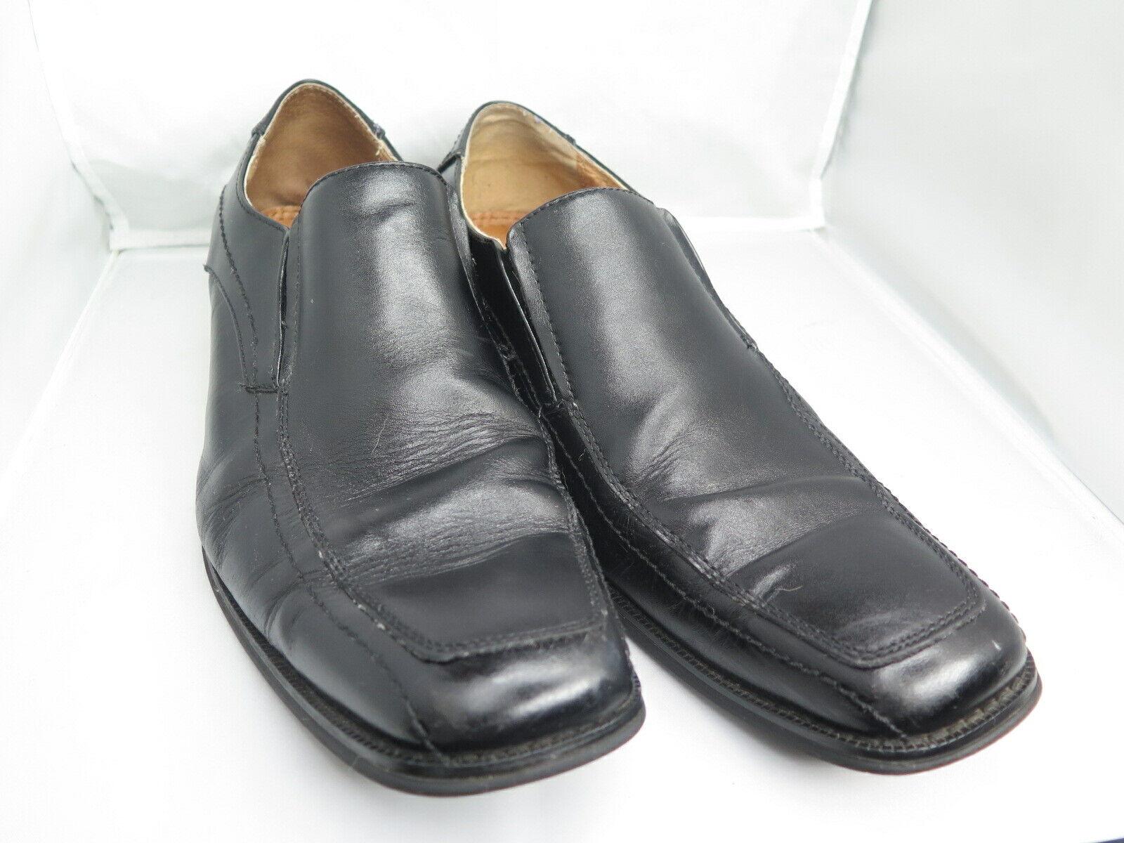 Joseph Abboud Mens Black Leather Slip On Dress Shoes X173421 Size 13M