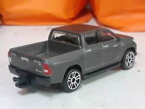 majorette Toyota Hilux Gray With Cabin Cover scale 1:64 diecast model