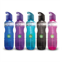 Wave Enviro 1 Liter (32 Oz) Bpa-free Plastic Sports Water Bottle W/ Straw