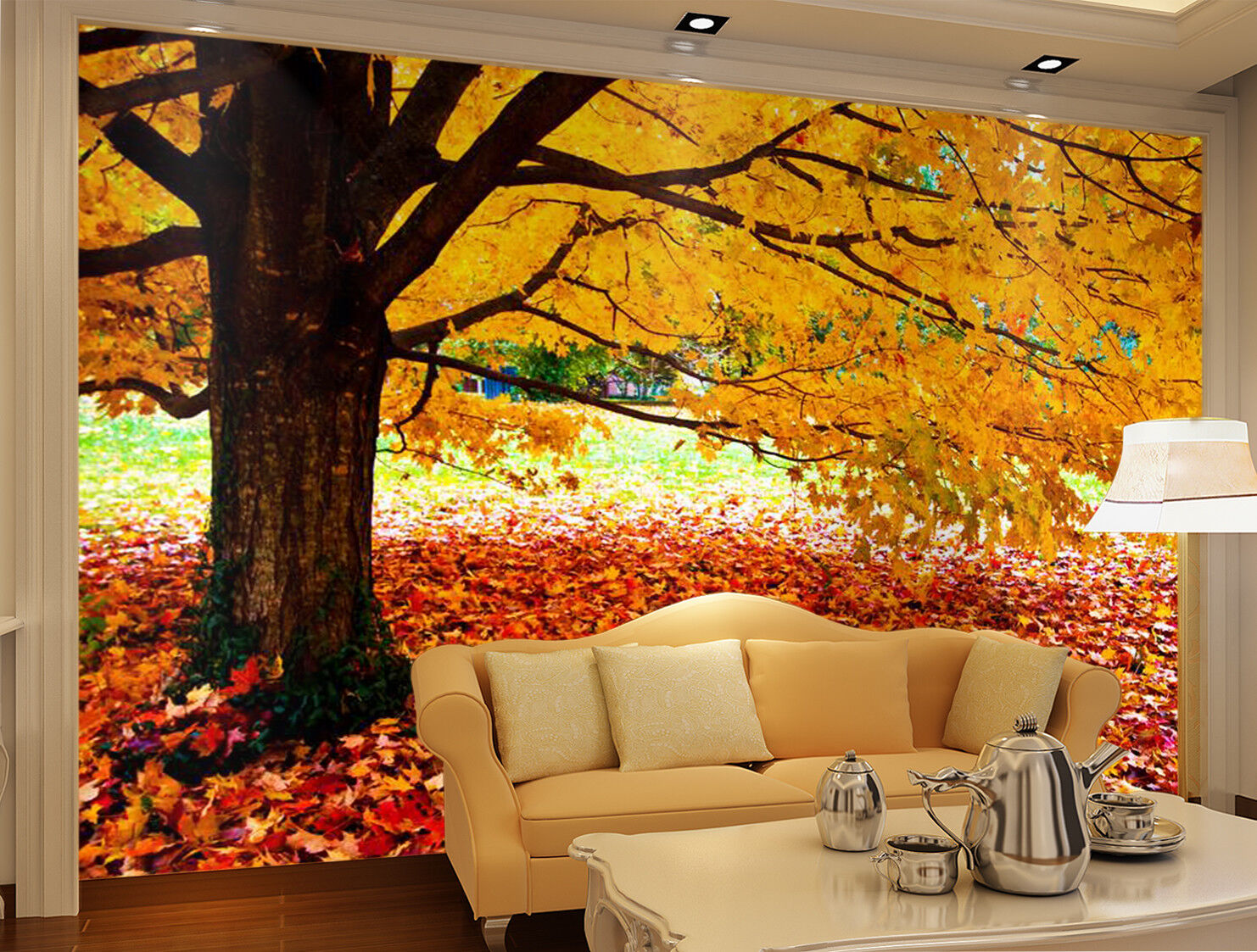3D Autumn Leaves 973 Wallpaper Mural Paper Wall Print Wallpaper Murals UK