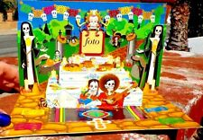 DAY OF THE DEAD MINI 3 D ALTAR DE MUERTOS MADE IN GUADALAJARA MEXICO FREE SHIP