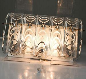 Wand-Leuchte-Kristall-Glas-Luesterbehang-Lampe-Kinkeldey-Bakalowits-Design-60er