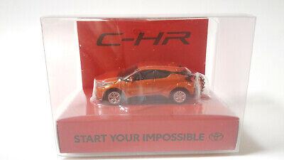 New CHR TOYOTA LED Light Keychain Orange Metallic PullBack Mini Car