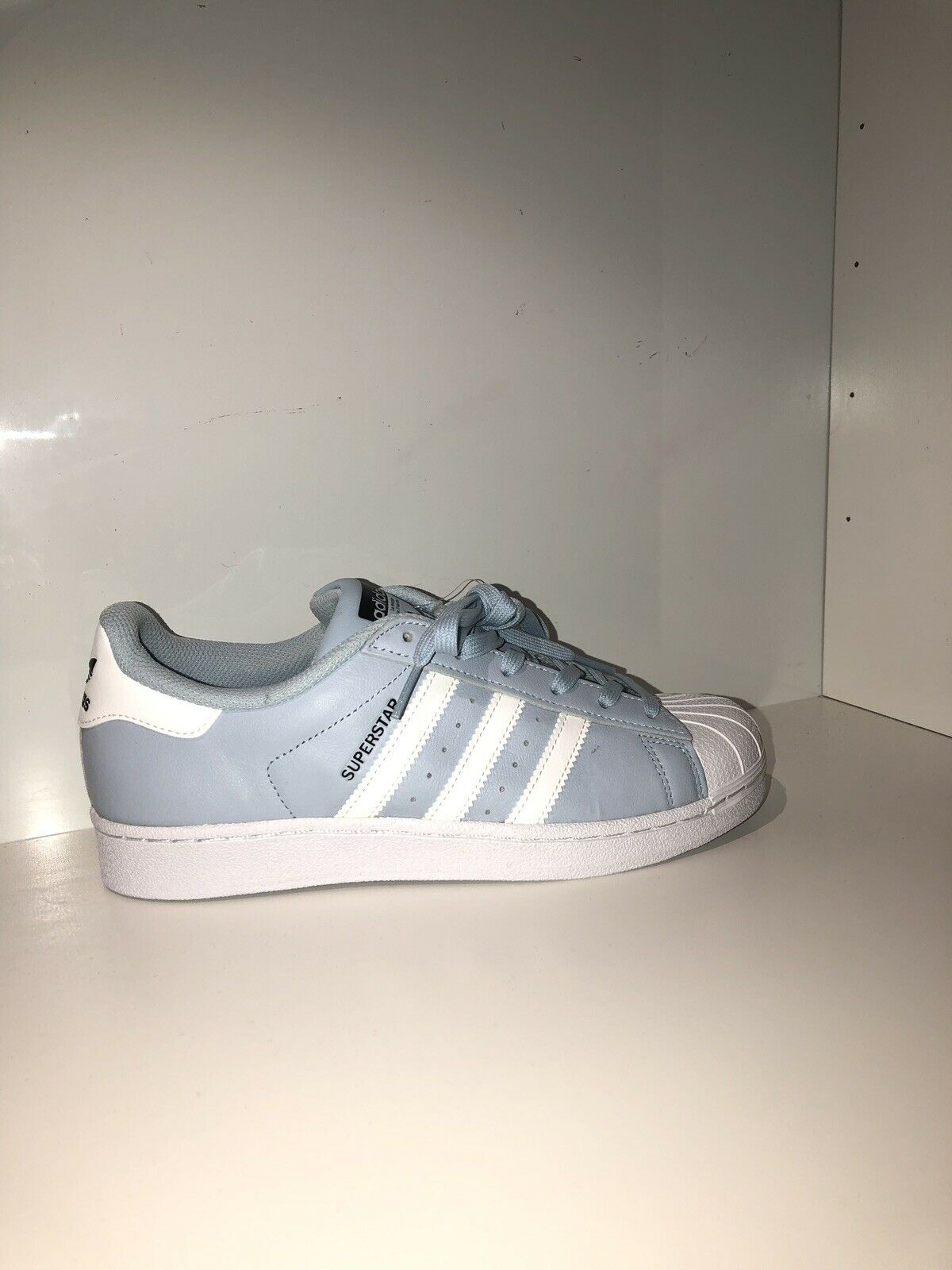 Adidas Original Superstars Baby bluee  Light bluee Brand New Size 6