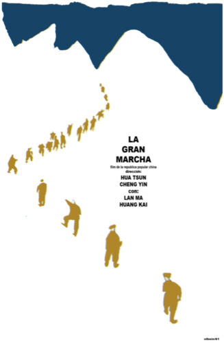 4344.La gran marcha.people walk.in snow.Movie.POSTER.Decoration.Fine Graphic Art