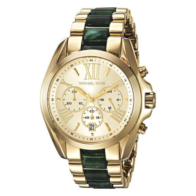 Michael Kors Women S Bradshaw Chronograph Gold Tone Steel 43mm Watch Mk6397 Ebay