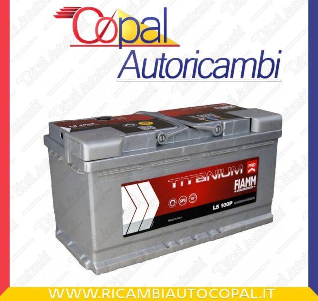 BATTERIA AUTO FIAMM TITANIUM PLUS POTENZIATA 100Ah 870A EN +DX 12V _ L5100+