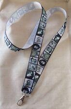 Horror Film Inspired Lanyard Key Chain Made w/ Lightweight Ribbon Badge Villains