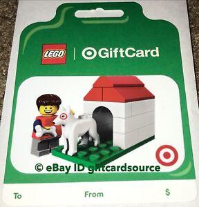 TARGET 2019 GIFT CARD LEGO MAN W/BULLSEYE DOG HOUSE NO ...