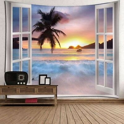 Sea Tapestry Sunset Indian Wall Hanging Print Tapestries Bedspread Home Decor