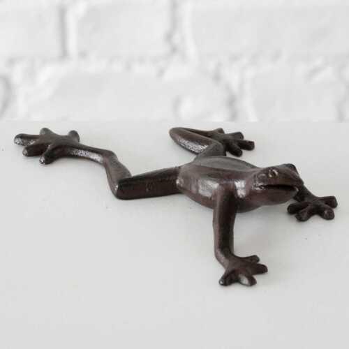 Deko-Figur Frosch Poldi Dekofigur Dekoobjekt Skulptur Frosch-Figur Gusseisen