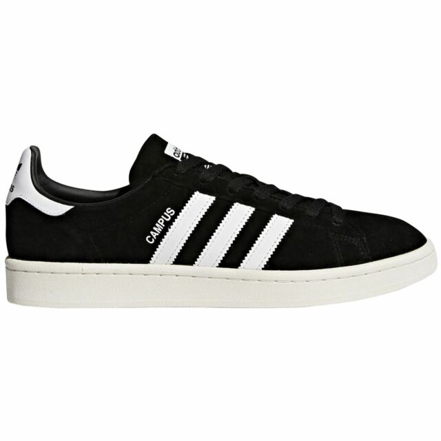 69fb5dc2c3460a Adidas Campus Core Black Footwear White Mens Nubuck Sneakers Low-top  Trainers