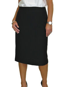 Pencil Day Skirt Black Under Day 20 Knee Gined 8 Ladies Nuovo txqPwZpq