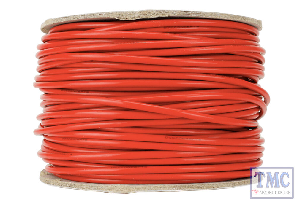 DCWRD503.5 DCC Concepts 50m of 3.5mm 11g rosso energia autobus Wire