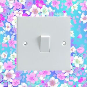 Colourful-Flowers-Pattern-Electrical-Light-Switch-Surround-Printed-Vinyl-Sticker