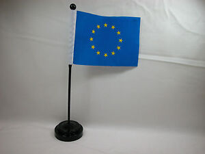 Clearance-4-034-x6-034-Hand-Held-or-Table-Top-International-Country-Flag-EU