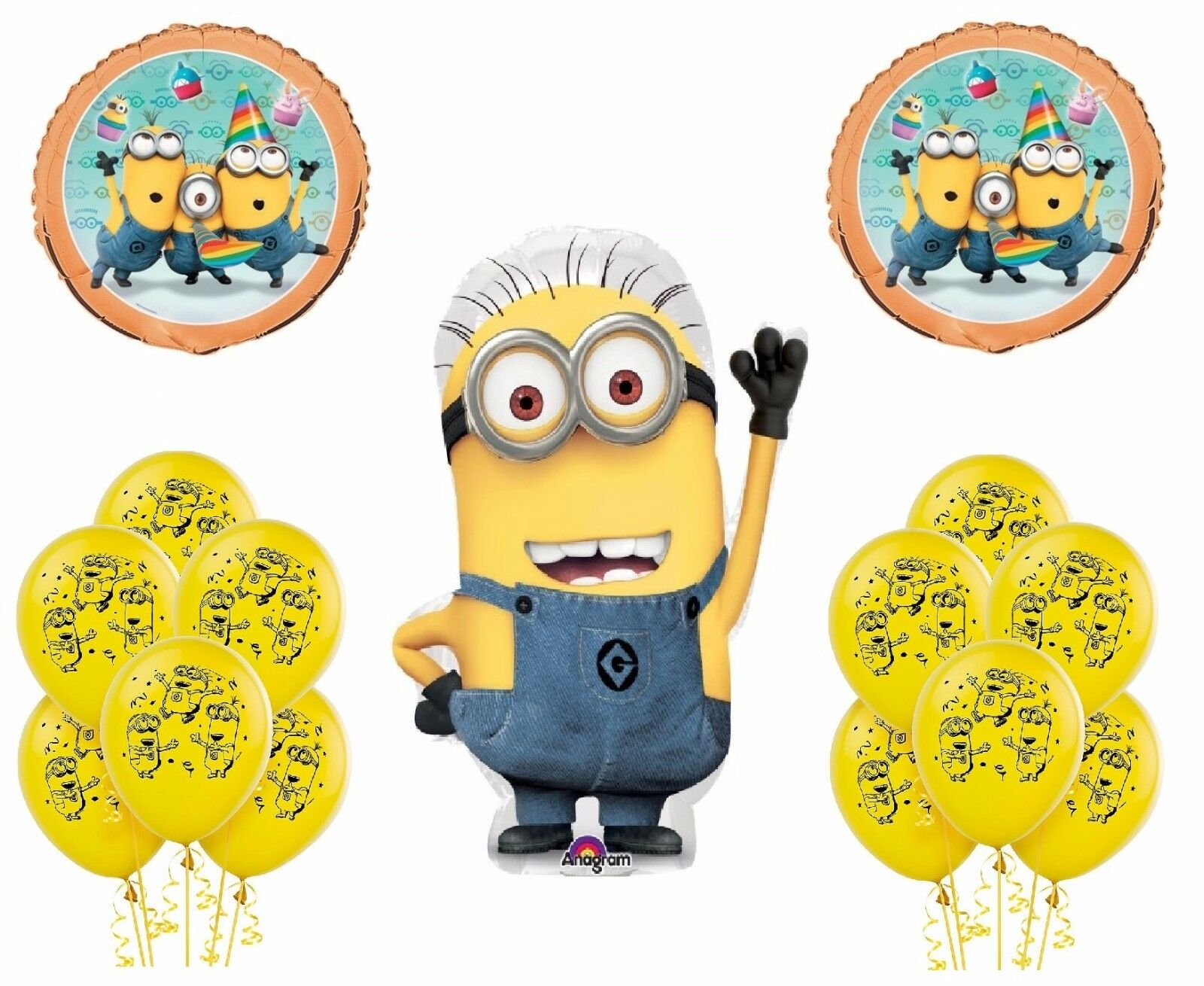 19pc Despicable Me 2 Minions Birthday Party Combo Balloons Ebay