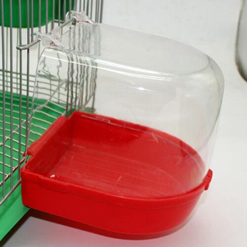 Bird Bath Bowl Cage Water Hanging Birdbath Plastic Vision For PARAKEET LOVEBIRD