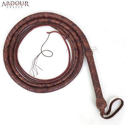 Indiana Jones Bull Whip 3 Feet Long 12 Plaits Real Cowhide Leather Bull Whip