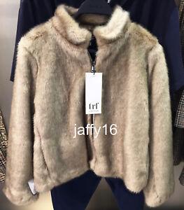 Jakke Xs Faux Fur xxl Ny Ref 237 Kort 1255 Zara Kvinde Natural BtqX0gw