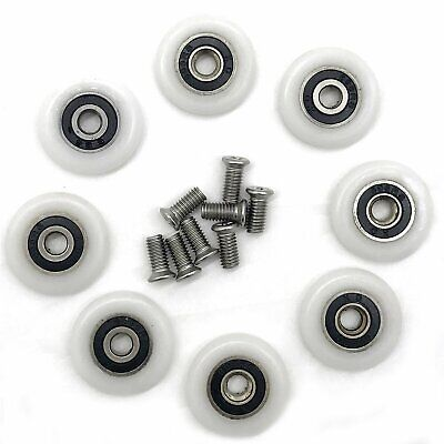 YuanQian Lot de 8 roulettes de rechange pour porte de douche 23 mm