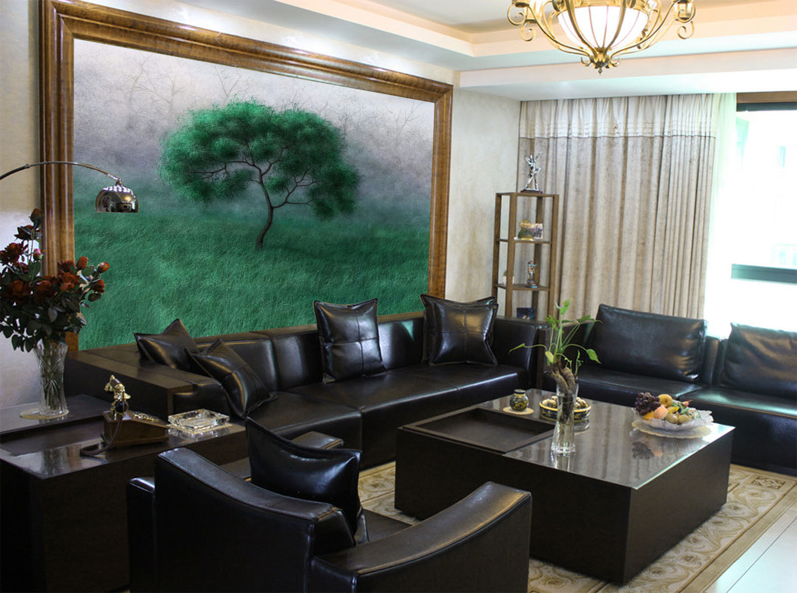 3D Grüner Baum Grünland 864 Tapete Wandgemälde Tapete Tapeten Bild Familie DE