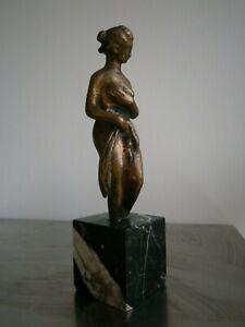 Statue-Bronze-Patina-Venus-to-Bath-st-Antique-Greek-Roman-Sculpture-Deco-Antique