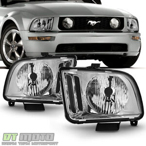 Image Is Loading 2005 2009 Ford Mustang Headlights Headlamp Replacement Left