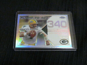 Brett-favre-Packers-HOF-2008-Topps-Chrome-Rare-White-Refractor-SP-ed-100