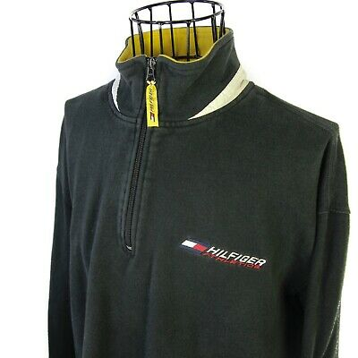Vintage Tommy Hilfiger Athletics Mens Large USA Made Half Zip Pullover Sweater | eBay