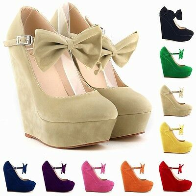WOMENS SEXY HIGH HEELS WEDGES SHOES PLATFORM STRAPPY AUTUMN SUMMER SIZE US 4-11