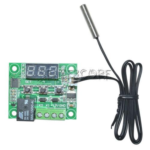 2PCS W1209-50-110°C Digital thermostat Temperature Control Switch 12V Sensor