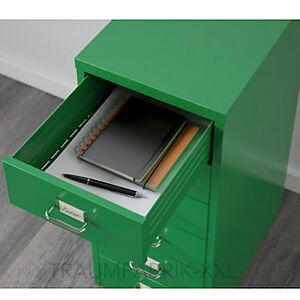 Ikea Helmer Drawer Unit With Wheels Office Cupboard Green