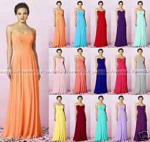 New-Long-Chiffon-Formal-Evening-Prom-Party-Ball-Gown-Bridesmaid-Dress-Size-6-18