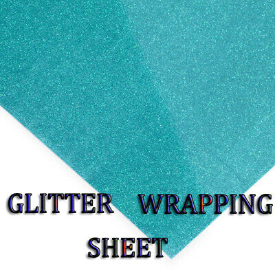Blue Glitter sparkle gift wrapping PAPERS perfect for All Occasion 69x49cm